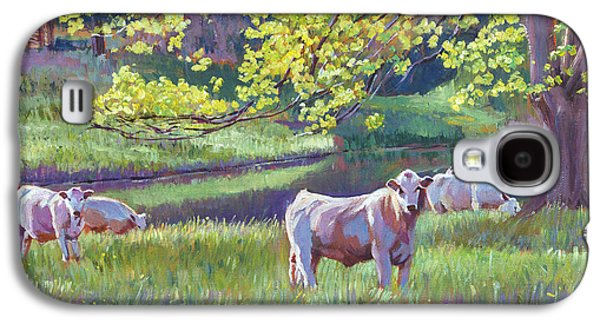Pastoral Paintings Galaxy S4 Cases - Grazing By the Lake Galaxy S4 Case by David Lloyd Glover