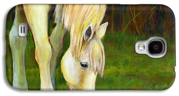 Artistic Paintings Galaxy S4 Cases - Grazing Horse Galaxy S4 Case by Blenda Studio
