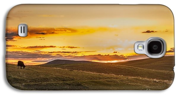 Haybale Galaxy S4 Cases - Grazing Sunset Galaxy S4 Case by Robert Bales