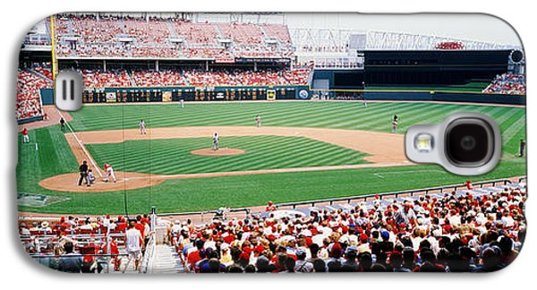 Sports Photographs Galaxy S4 Cases - Great American Ballpark Cincinnati Oh Galaxy S4 Case by Panoramic Images