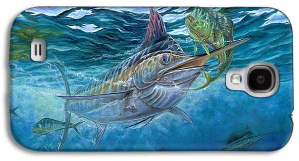 Marlin Galaxy S4 Cases - Great Blue And Mahi Mahi Underwater Galaxy S4 Case by Terry Fox