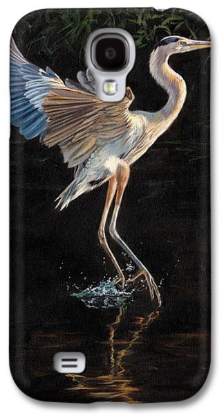Water Fowl Galaxy S4 Cases - Great Blue Heron Galaxy S4 Case by David Stribbling