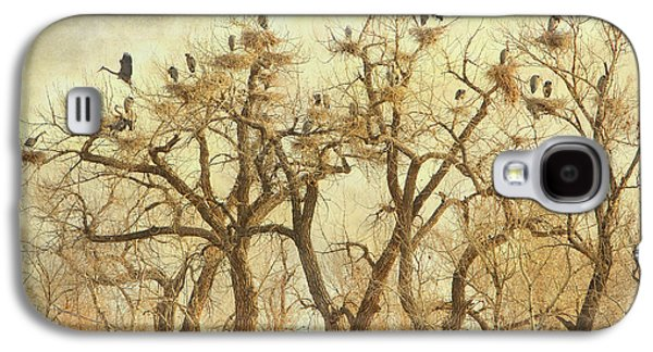 Landscape Acrylic Prints Galaxy S4 Cases - Great Blue Heron Hangout Fine Art Galaxy S4 Case by James BO  Insogna