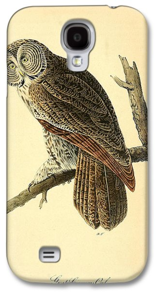 Business Drawings Galaxy S4 Cases - Great Cinerous Owl Galaxy S4 Case by John James Audubon