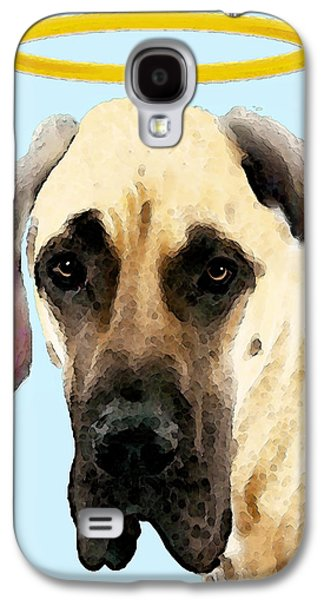 Dog Pop Art Galaxy S4 Cases - Great Dane Art - I Didnt Do It Galaxy S4 Case by Sharon Cummings