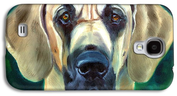 Working Breed Galaxy S4 Cases - Great Dane Nobility Galaxy S4 Case by Lyn Cook