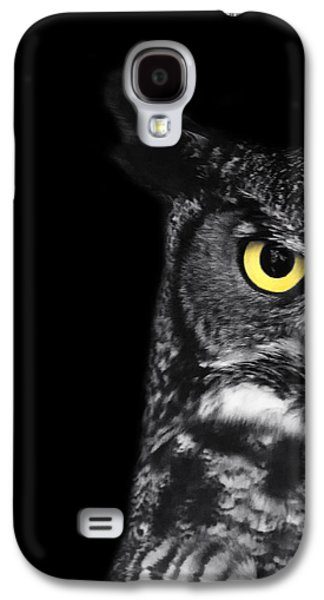 Great Birds Galaxy S4 Cases - Great Horned Owl Photo Galaxy S4 Case by Stephanie McDowell