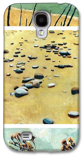 Beach Landscape Galaxy S4 Cases - Great Lakes Triptych 2 Galaxy S4 Case by Michelle Calkins