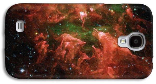 Nebula Galaxy S4 Cases - Great Nebula in Carina Galaxy S4 Case by Ayse Deniz