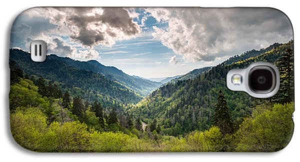 Gatlinburg Galaxy S4 Cases - Great Smoky Mountains Landscape Photography - Spring at Mortons Overlook Galaxy S4 Case by Dave Allen