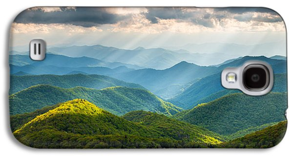 Sunbeams Galaxy S4 Cases - Great Smoky Mountains National Park NC Western North Carolina Galaxy S4 Case by Dave Allen