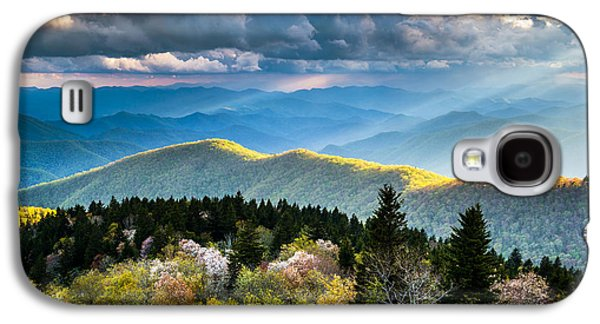 Calm Photographs Galaxy S4 Cases - Great Smoky Mountains National Park - The Ridge Galaxy S4 Case by Dave Allen
