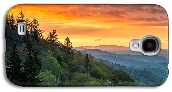 Tn Galaxy S4 Cases - Great Smoky Mountains North Carolina Scenic Landscape Cherokee Rising Galaxy S4 Case by Dave Allen
