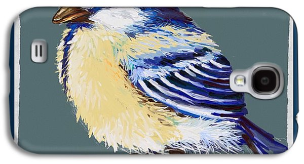 Abstract Digital Paintings Galaxy S4 Cases - Great tit Galaxy S4 Case by Veronica Minozzi