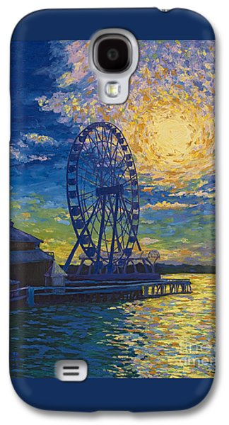 Great Wheel Sunset Galaxy S4 Case by Francesca Kee