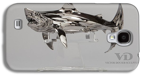 Sharks Sculptures Galaxy S4 Cases - Great White small Galaxy S4 Case by Victor Douieb
