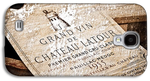 Wine Art Galaxy S4 Cases - Great Wines Of Bordeaux - Chateau Latour 1955 Galaxy S4 Case by Frank Tschakert
