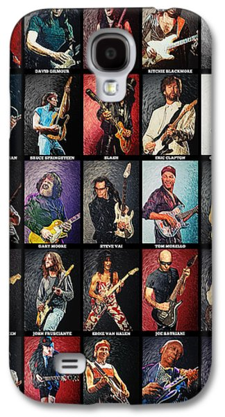 Eric Clapton Galaxy S4 Cases - Greatest guitarists of all time Galaxy S4 Case by Taylan Soyturk