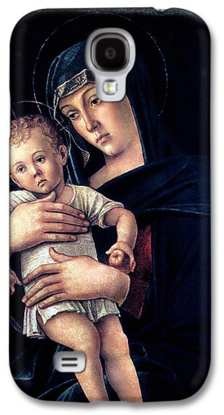 Holy Mother Galaxy S4 Cases - Greek Madonna With Child 1464 Giovanni Bellini Galaxy S4 Case by Karon Melillo DeVega