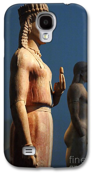 Greek Sculpture Galaxy S4 Cases - Greek Sculpture Athens 1 Galaxy S4 Case by Bob Christopher
