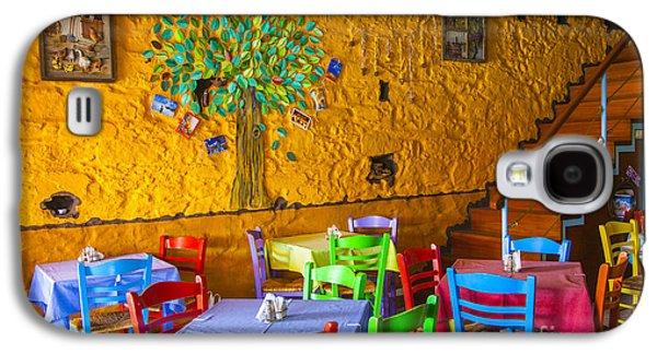 Wine Holder Galaxy S4 Cases - Greek Taverna Galaxy S4 Case by Eleni Mac Synodinos
