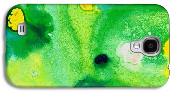 Green Modern Galaxy S4 Cases - Green Abstract Art - Life Pools - By Sharon Cummings Galaxy S4 Case by Sharon Cummings