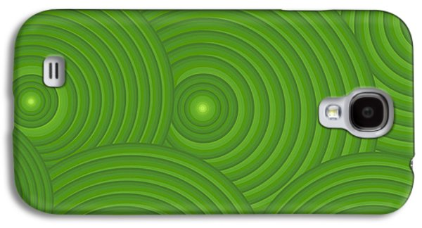 Swirly Galaxy S4 Cases - Green Abstract Galaxy S4 Case by Frank Tschakert