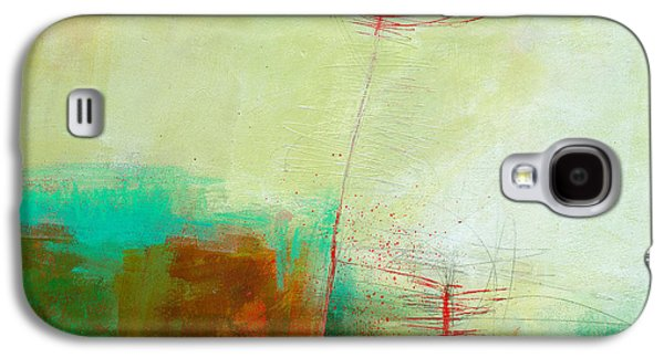 Grid Galaxy S4 Cases - Green and Red 11 Galaxy S4 Case by Jane Davies
