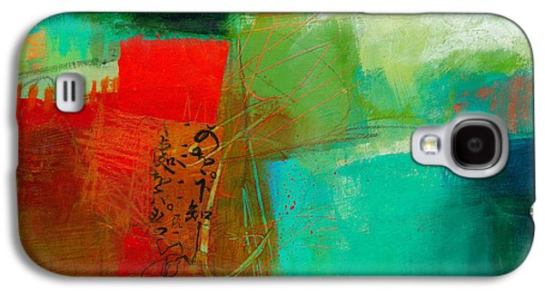 Drawing Paintings Galaxy S4 Cases - Green and Red 4 Galaxy S4 Case by Jane Davies