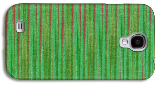 Textured Digital Art Galaxy S4 Cases - Green And Red Striped Fabric Background Galaxy S4 Case by Keith Webber Jr