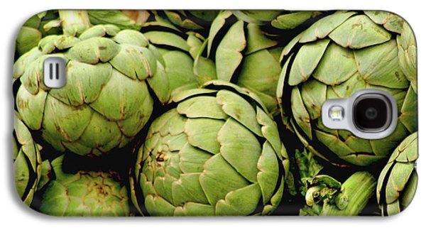 Kitchen Photos Galaxy S4 Cases - Green Artichokes Galaxy S4 Case by Art Block Collections