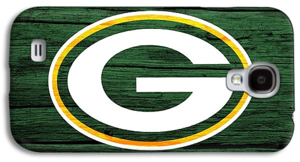 Champion Mixed Media Galaxy S4 Cases - Green Bay Packers Barn Door Galaxy S4 Case by Dan Sproul
