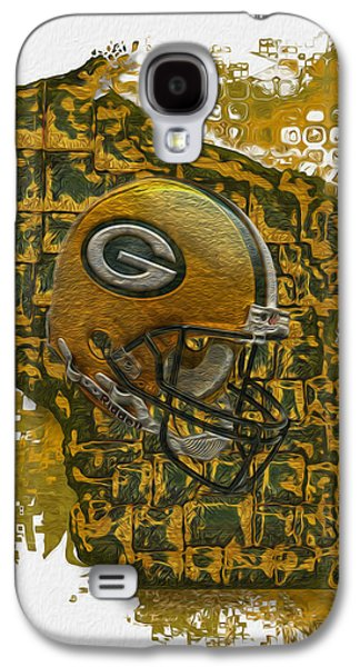 Forms Digital Galaxy S4 Cases - Green Bay Packers Galaxy S4 Case by Jack Zulli