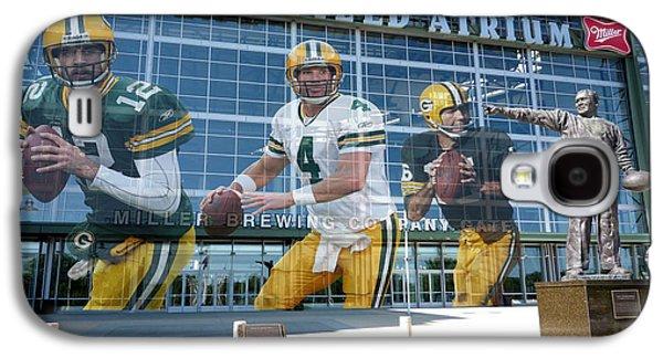 Player Galaxy S4 Cases - Green Bay Packers Lambeau Field Galaxy S4 Case by Joe Hamilton