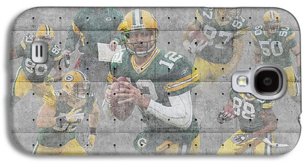 Offense Galaxy S4 Cases - Green Bay Packers Team Galaxy S4 Case by Joe Hamilton