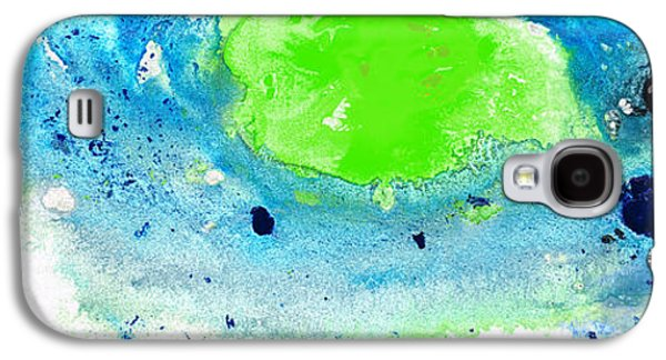Nature Abstract Galaxy S4 Cases - Green Blue Art - Making Waves - By Sharon Cummings Galaxy S4 Case by Sharon Cummings