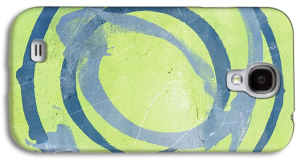 Blue Abstracts Galaxy S4 Cases - Green Blue Galaxy S4 Case by Julie Niemela