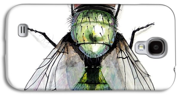 Creepy Ceramics Galaxy S4 Cases - Green Bottle Housefly Galaxy S4 Case by Nathan Ryan