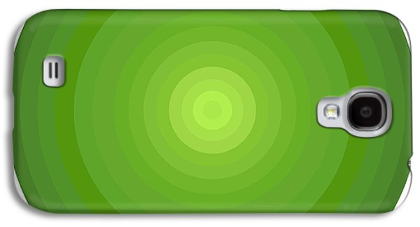 Gradient Galaxy S4 Cases - Green Circles Galaxy S4 Case by Frank Tschakert
