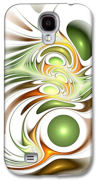 Abstract Digital Mixed Media Galaxy S4 Cases - Green Creation Galaxy S4 Case by Anastasiya Malakhova