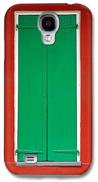 Historic Home Galaxy S4 Cases - Green Door in New Orleans Galaxy S4 Case by Christine Till