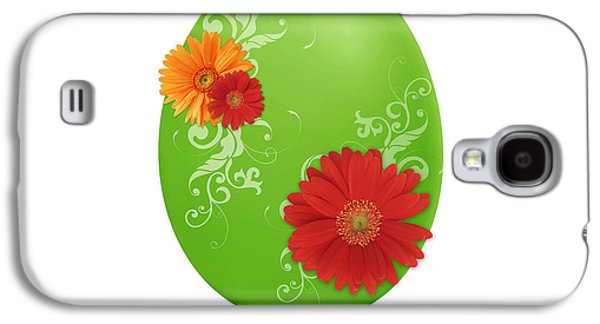 Flora Drawings Galaxy S4 Cases - Green Easter Egg Galaxy S4 Case by Aged Pixel
