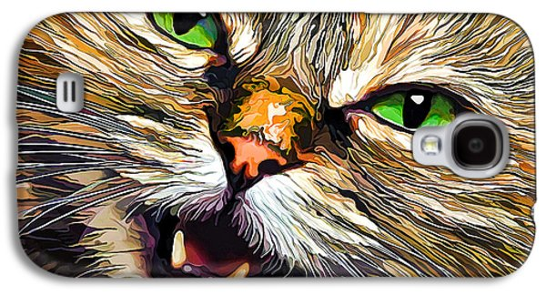 Photo Manipulation Galaxy S4 Cases - Green-Eyed Girl Galaxy S4 Case by Bill Caldwell -        ABeautifulSky Photography