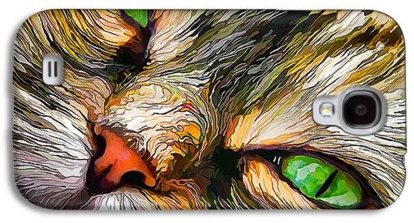 Digitally Manipulated Galaxy S4 Cases - Green-Eyed Tortie Galaxy S4 Case by Bill Caldwell -        ABeautifulSky Photography