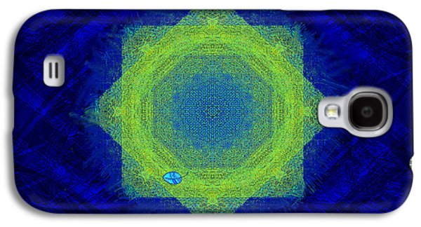 Deceptive Galaxy S4 Cases - Green Eyed Weave Galaxy S4 Case by Mathilde Vhargon