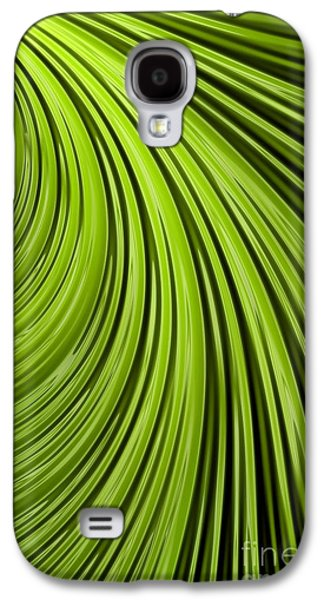 Creativity Galaxy S4 Cases - Green Flow Abstract Galaxy S4 Case by John Edwards