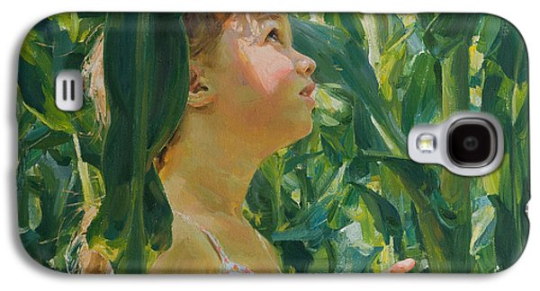 Girl Galaxy S4 Cases - Green forest of corn Galaxy S4 Case by Victoria Kharchenko