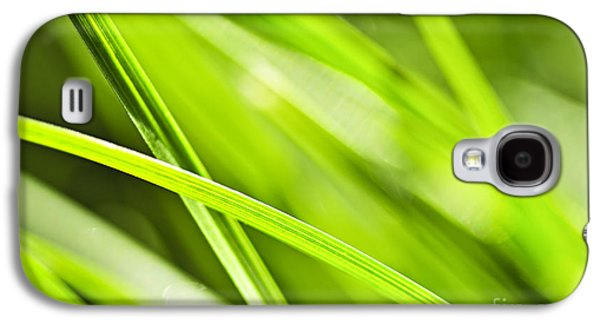 Plants Galaxy S4 Cases - Green grass abstract Galaxy S4 Case by Elena Elisseeva