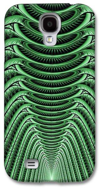Alien Galaxy S4 Cases - Green Hall Galaxy S4 Case by Anastasiya Malakhova