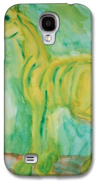 Component Paintings Galaxy S4 Cases - Green Hope Galaxy S4 Case by Hilde Widerberg